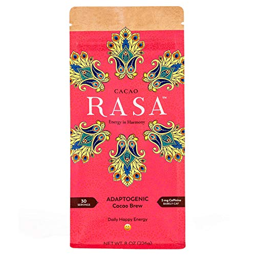 Cacao Rasa Coffee Alternative with Chaga + Reishi for All-Day Energy + Focus - Organic, Adaptogenic, Vegan, Keto, Low Caffeine, Whole30, Gluten Free, 8 Ounce