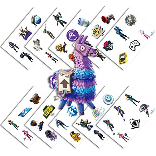 Video Game Party Favors - Temporary Tattoos for Boys Birthday - 60 Tattoos Pack of 10 Sheets - Valentines Day Gift for Kids ()