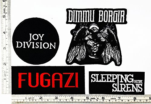 Siren Costume Diy (Set Rock music 421 Joy Division Dimmu Borgir Fugazi Sleeplng with sirens Heavy Metal Music Punk Band Logo Embroidered Iron on Hat Hoodie Backpack Ideal for Birthday Gift)