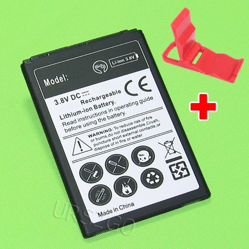 New High Capacity 2450mAh Extended Slim Battery for Straight Talk/Tracfone/Net10 LG Sunset L33L Smartphone with additional valueable accessory -  SodaPop