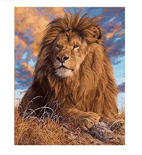 tienda de pescado para la venta Tworidc5-50x70cm Framed UPUPUPUP Sunset Lion DIY Pintura por Números Animal Animal Animal Pintura Al óleo sobre Lienzo Nube Cielo Acrílico Arte de la Parojo Decoración para el hogar, Tworidc5-50X70Cm Enmarcado  Entrega directa y rápida de fábrica