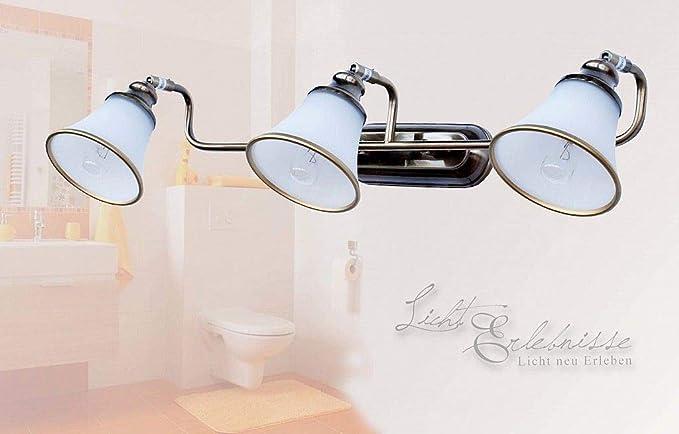 Plafoniere Da Parete Per Bagno : Esclusiva da bagno lampada 3 x e14 in bronzo effetto ip20