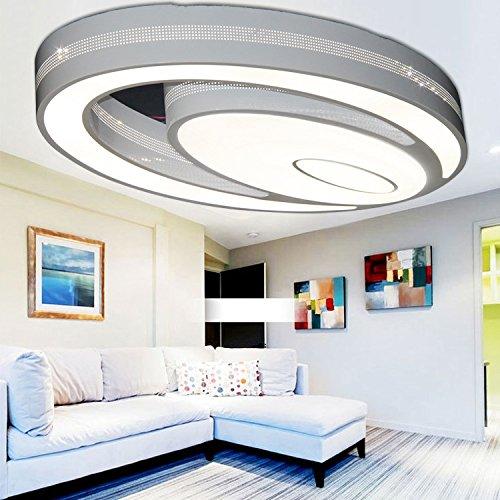 Fsd LED-moderne einfach stilvolle kreative Acryl Eisen Decke Lampe Wohnzimmer H?hle Schlafzimmer Esszimmer Deckenlampen Beleuchtung (60*40*11cm72W)