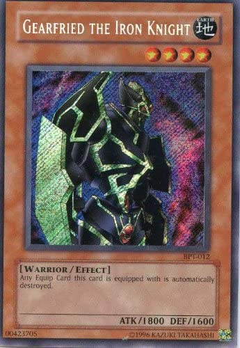Yugioh Gearfried The Iron Knight BPT-012 Secret Rare NEAR MINT CONDITION!