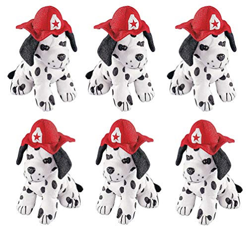 4E's Novelty Stuffed Dalmatians Soft Plush Puppy Dogs, Pack of 6 Large 7