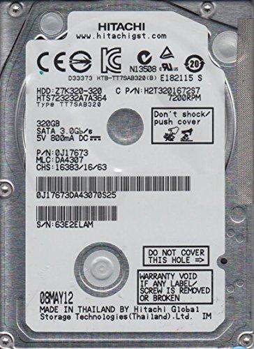 HTS723232A7A364, PN 0J17673, MLC DA4307, Hitachi 320GB SATA 2.5 Hard (Hitachi Sata Controller)
