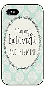 For LG G3 Case Cover Bible Verse - I am my beloved's and he is mine - black plastic case / Verses, Inspirational and Motivational