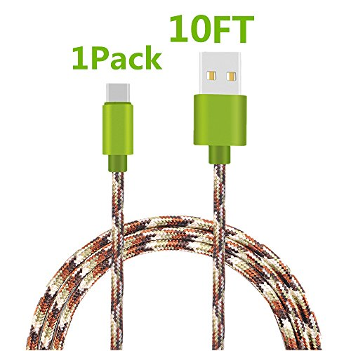 Type C Cable, KAMII Braided USB C to USB A Braided Sync & Charging Cable for New Macbook 12 inch, Galaxy S8, S8 Plus, Nexus 6P 5X, LG G6 G5, Nintendo Switch & More (1PC 10FT) (N1 Full Body Kit)