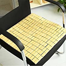 Lovef 100% Handmade Mahjiong Carbonized Nature Bamboo Square Summer Cool Chair Seat Cushion for Office/car/sofa/restaurant/etc 17.7inches17.7inches Cooling Mat Laptop Pet Dog(Beige)