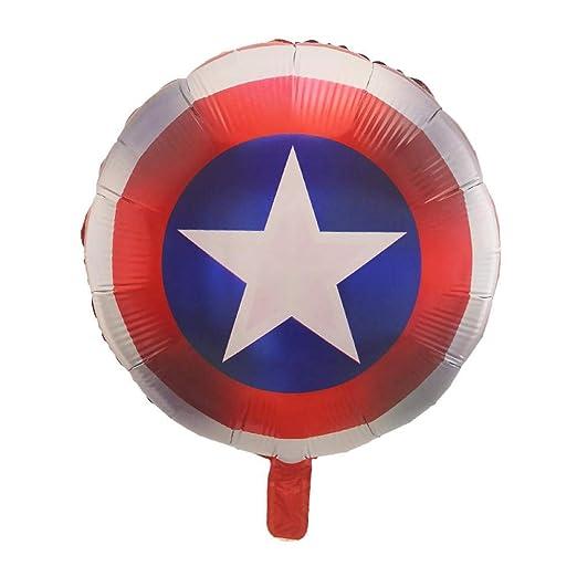 10pcs Hero Balloons Avengers Spider-Man Batman Justice ...