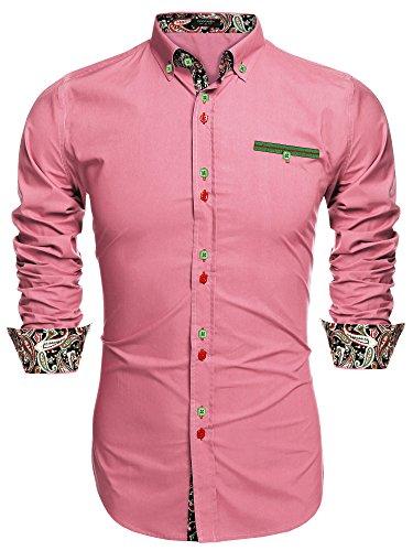 Coofandy Men's Fashion Slim Fit Dress Shirt