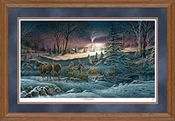 a helping hand by terry redlin limited edition framed print of 9500 signed numbered