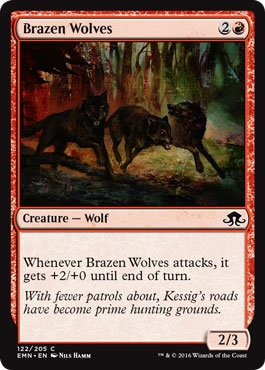 Amazon.com: Magic: the Gathering / Brazen Wolves(122) (Foil ...