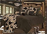 El Dorado - Western - 5 Piece Full Size Comforter Bedding Set - (1 Comforter, 2 Pillow Shams, 1 Bedskirt, 1 Neckroll Pillow) SAVE BIG ON BUNDLING!