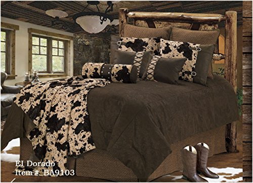El Dorado - Western - 5 Piece Full Size Comforter Bedding Set - (1 Comforter, 2 Pillow Shams, 1 Bedskirt, 1 Neckroll Pillow) SAVE BIG ON BUNDLING! by H&H Designs