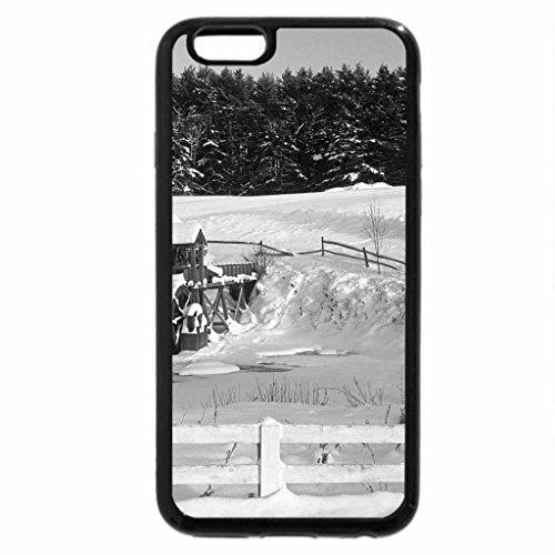 iPhone 6S Plus Case, iPhone 6 Plus Case (Black & White) - Grist Mill in Winter