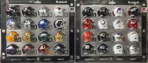 NFC & AFC Speed Pocket Pro Mini Helmet Conference Sets - 32 Helmets - All current NFL -