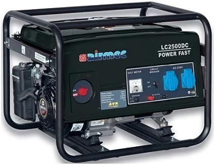 Airmec - Generador de gasolina LC 2500 DC 2,2 kW Grupo electrógeno speroni monofásico 230 voltios + cargador de batería
