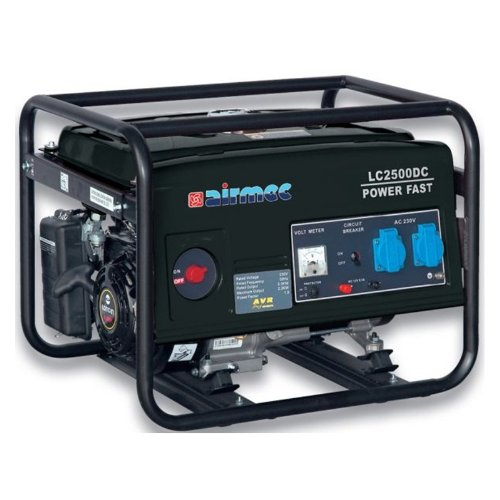 airmec–Generator Benzin LC 2500DC 2,2kW Generator Sporen einphasig 230Volt + Batterieladegerät