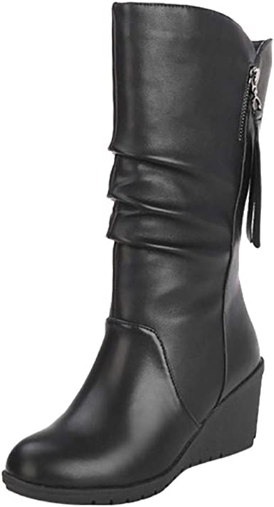 Wide Calf Over the Knee Lace Up Boots