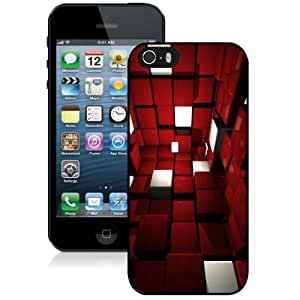 New Personalized Custom Designed For iPhone 5s Phone Case For 3D Red and White Space Phone Case Cover