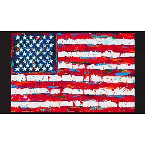 Robert Kaufman Patriots Digital Flag 24'' Panel Americana Fabric Fabric by the Yard