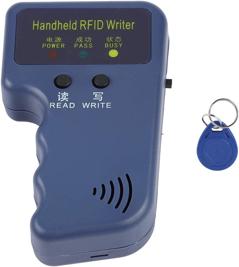 Keyfob EM4100 Portable Handheld RFID ID Card Copier Reader//Writer Duplicator Yosoo 125Khz RFID Reader Writer