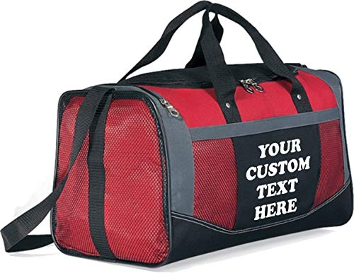 Custom Sports Bags and Personalized Duffle Bags - Fancy Custom Gym Bags - Add Your Custom Text