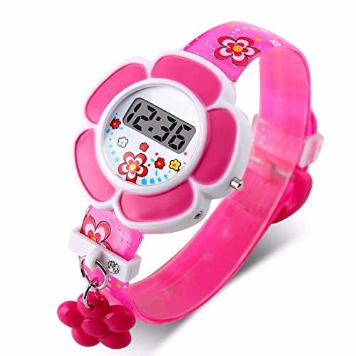 2016 New Lovely Flower Cute Kids Watches Children LED Watches Cartoon Silicone Digital Wrist Watch For - Edition Oakley Special Ferrari