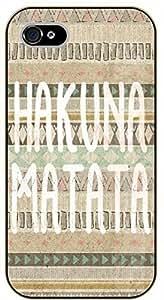 iPhone 5C Aztec Hakuna Matata - black plastic case / Walt Disney And Life Quotes