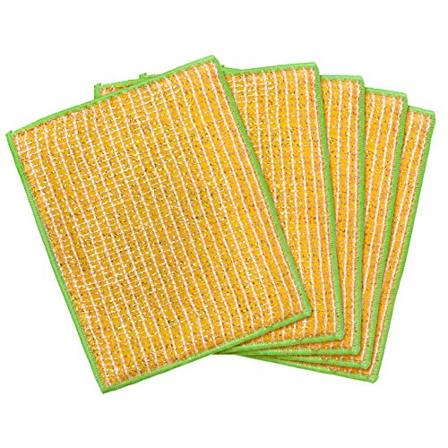 REDECKER Dual Sided Copper and Microfiber Cleaning Cloth, Set of 5, 7-3/4'' x 6'', Non-Abrasive Copper Effectively Scrubs, Absorbent Microfiber Wipes Surfaces Clean, Machine Washable, Made in Germany by REDECKER (Image #1)