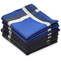 Cotton Handkerchief for Men, Soft Hanky with Classic Stripe, Gift Set