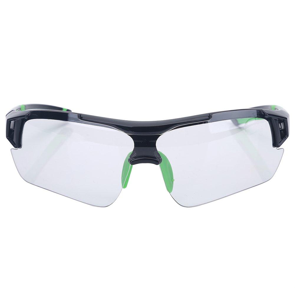 アウトドアスポーツサングラス UV保護 サイクリング ランニング ハイキング用メガネ 男女兼用  グリーン B074SG4QC3
