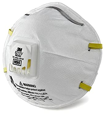 8210v 10 Particulate box Respirator 3m Flow Valve N95 Cool