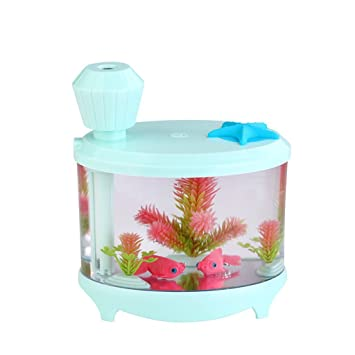 Amazon Com Ipuis Night Light Humidifier 460ml Fish Tank Humidifier