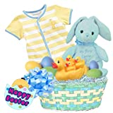 "Lil Bunnies ""Baby's First Easter"" Baby Boy's Easter Basket, Blue, Size: 12 months"