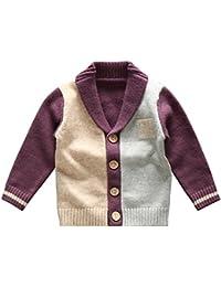 Little Baby Boys Knit Lapel Cotton Warm Leisure Cardigan Sweater