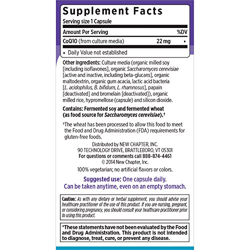 New Chapter CoQ10 - Coq10 Food Complex for Antioxidant and Cardio Support Non-GMO Ingredients - 60 ct Vegetarian Capsules Discount