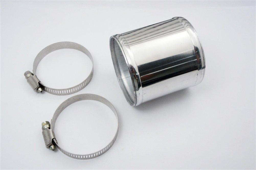 300 mm 90 grados o 1.77 Pipa de la aleaci/ón de aluminio cromo polaco tubo de aspiraci/ón y uso Universal pipa del refrigerador intermedio 45 mm L 12