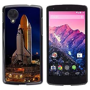 TECHCASE**Cubierta de la caja de protección la piel dura para el ** LG Google Nexus 5 D820 D821 ** Space Rocket Launch Ship Nasa Flight Tecnology