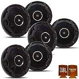 JBL MS65010BK OEM Replacement Speakers - 3 Pair of Marine 6.5 Inch Dual Cone Speakers - Black