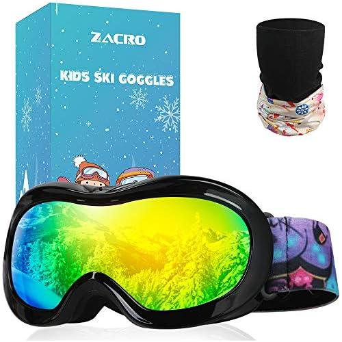 chollos oferta descuentos barato Zacro Gafas Esquí Snowboard para Niño Joven con Máscara Esquí y Bolsa Portable OTG 100 UV400 Protección Gafas de Esquí Antideslizante Anti Niebla y Anti Nieve Negro