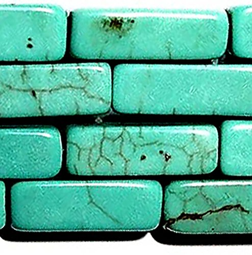 Turquoise Tube Beads - Luxury & Custom {4 x 13mm} of Approx 30 Individual Loose Medium Size Hexagon Cylinder