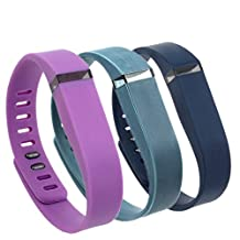 Weinisite Adjustable Replacement Silicone Wristband with Chrome Watch Clasp for FITBIT FLEX