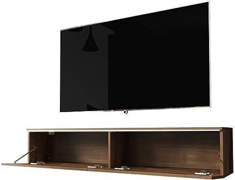 Selsey Kane - Mueble para televisor (140 cm, Roble wotan, con LED)