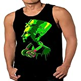 SFYNX 'Generation 1' Mens Rave Tank Top - Glow in The Dark EDM Clothing - Black Light Reactive Tank (XX-Large)