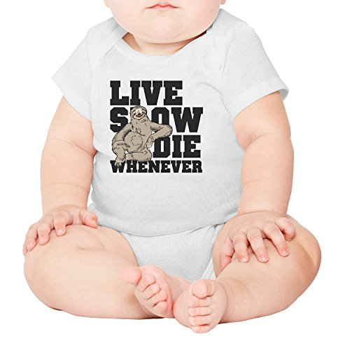 M2VIK9 Baby Romper Short Sleeve Clothes Jumpsuit Live Slow Die Whenever Bodysuit Playsuit Outfits