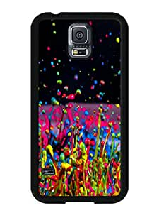 Hot Sale Samsung Galaxy S5 I9600 Case ,Unique And Beautiful Designed Samsung Galaxy S5 I9600 Case With Colors splash Black Phone Case