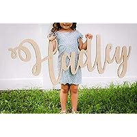 Custom Wood Name Sign - Nursery Baby Name Sign - Nursery Decor - Living Room Decor - Family Name Sign - Laser Cut Wood Sign - Nursery Hanger