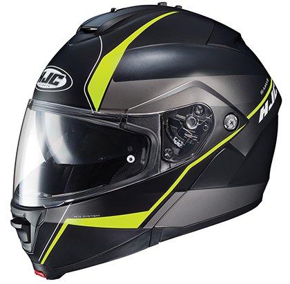 HJC IS-MAX II Mine - Modular Flip-Up Full-Face Motorcycle Helmet - Black/Neon - Small - Max Full Face Modular Helmet